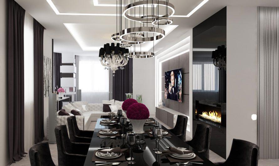 Варианты дизайна интерьера гостиной комнаты — современный стиль