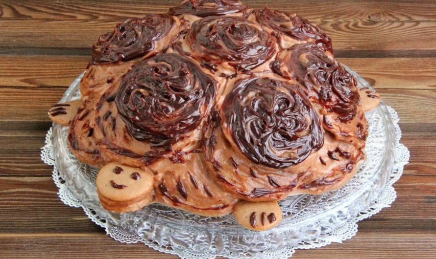 Рецепт приготовления торта Черепашка со сметаной