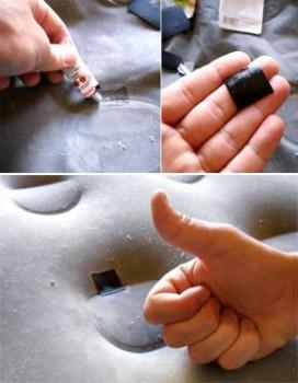 Многие поставщики предоставляют набор для ремонта надувных изделий