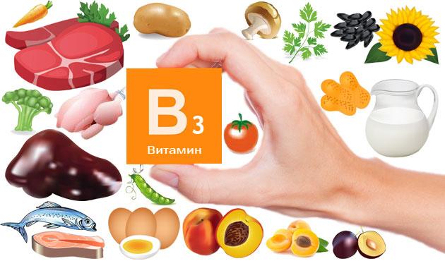 Витамин В3 находится в помидорах, яйцах, персиках, грибах, зелени и сливе