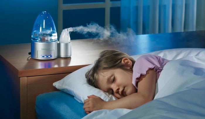 Дети меньше болеют в увлажненных комнатах, так как слизистая не пересыхает